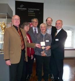 Der Vorstand mit Minister Christian Meyer v.l. : R. Meyer, J. Rübke, E. Bischoff, H. Bramlage-Müller, Minister Ch. Meyer, P. Thönelt