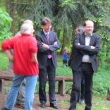 Minister Meyer mit dem OB Meyer